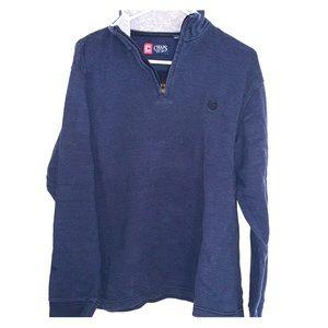 Men's Ribbed Quarter Zip Sweatshirt